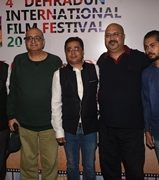 Director Navin Batra and Deepu Kumar spotted in Press Conference of Film festival in Mumbai